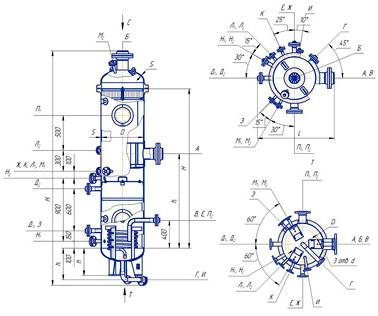 Схема установки сепаратора магистрального циклонного типа сц-140